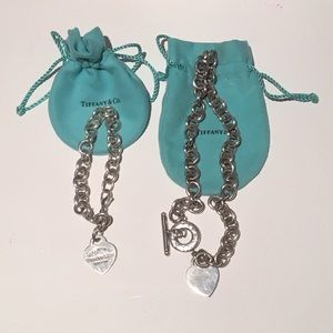 Tiffany & Co heart tag bracelet and necklace