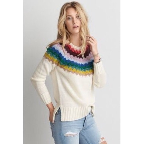 American Eagle Outfitters - American Eagle rainbow soft pullover ...