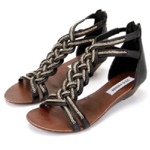 f7c907d9ff5 Steve Madden Chainge Sandals Black Wedges. M 595f047fa88e7dc3e30145f2