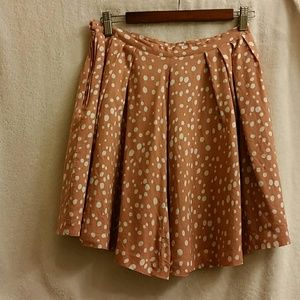 Peach polka dotted skirt