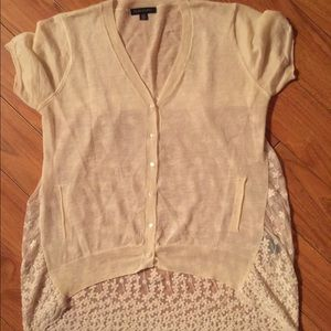 Tops - 🕊Sheer ~ Lace Cardigan~ size Large