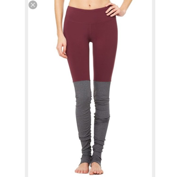 2ce7eac6aa ALO Yoga Pants | Alo Goddess Legging In Deep Plumstormy Heather ...