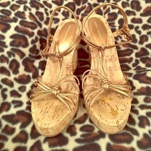 Banana Republic Gold Wedges