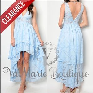 📍CLEARANCE 📍Light Blue Lace Dress
