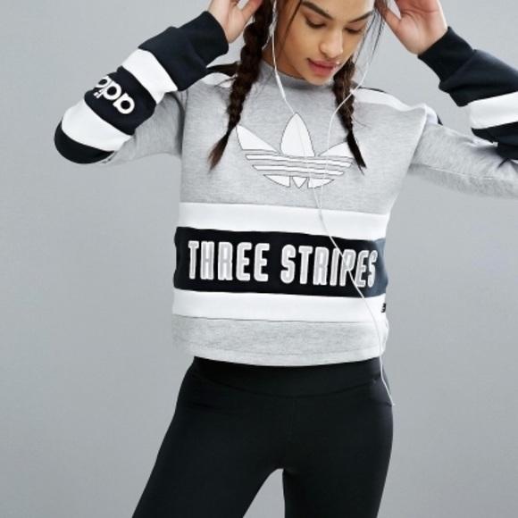 86fb6bacb7cf adidas Sweaters - Adidas Originals  80s Moto Cropped Sweatshirt