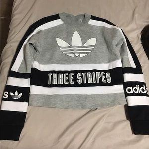 Adidas Originals '80s Moto Cropped Sweatshirt