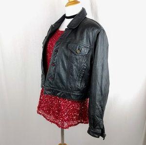 Genuine Leather 90's Moto Motorcycle Jacket
