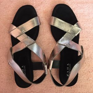 Zara Pewter Sandals