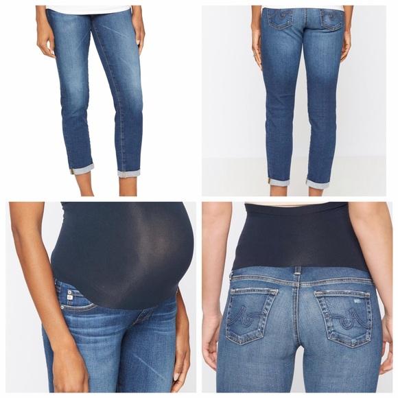1757115902b11 Ag Adriano Goldschmied Jeans | Ag Stilt Roll Up Maternity | Poshmark