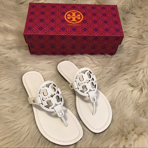 c9157dced56f5 BNIB Tory Burch Miller Sandals in  bleach