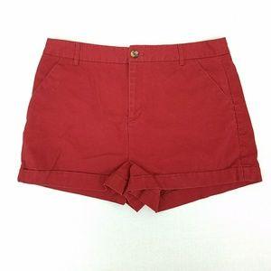 Forever 21 Red Cotton Light Courdoroy Short Sz 31