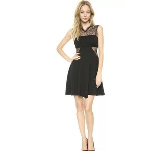Nwt Bailey 44 moonlight Vermont black lace dress s