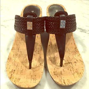 BCBG wedge sandals. MAKE an OFFER :)