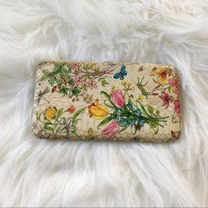 Floral Hardcover Wallet Card Holder