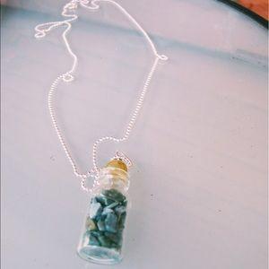 Jewelry - mini bottled up turquoise gem necklace