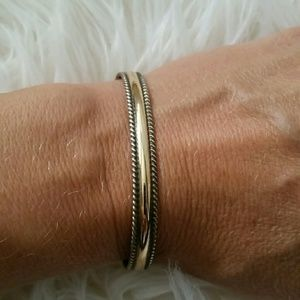 Jewelry - Gold and sterling rope bracelet