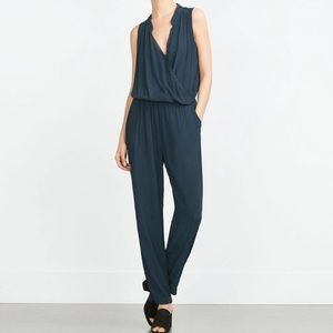 Zara long jumpsuit sz small NWT