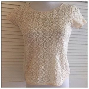 Final!! Lace top by Cynthia Rowley, Lined, Small