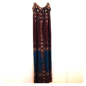 Alyn Paige Twisted Rope Strap Maxi Dress