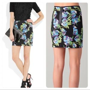 NWT! Elizabeth & James Floral Printed Scuba Skirt