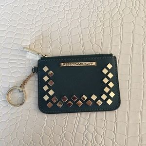 Rebecca Minkoff turquoise key coin purse