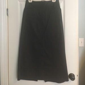Long dark grey skirt!