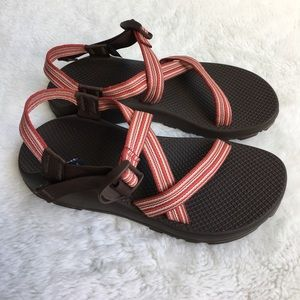 0ad35ecc558d Chaco Shoes - Chaco Women s Z1 Red Striped Sandals size 10