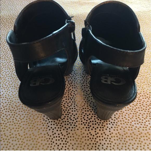 gianni bini gianni bono peep toe wooded platform heels