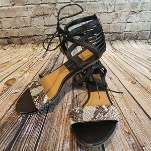 Dolce Vita Snakeprint Lace-up Sandals