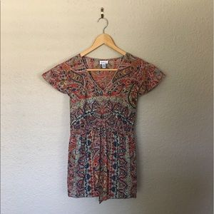 Paisley Boho Maternity Top like new