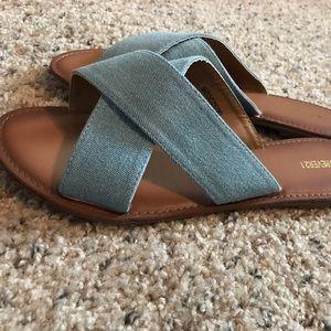 Forever 21 Shoes - Denim Sandals
