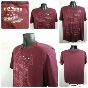 Express Men's Graphic Tee T-Shirt Size Large EUC