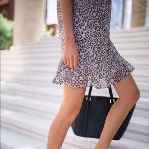 LOFT Dresses - Ann Taylor LOFT spotted flounce dress