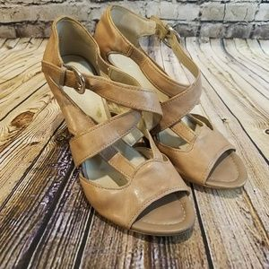 Franco Sarto The Artist's Collection Leather Wedge