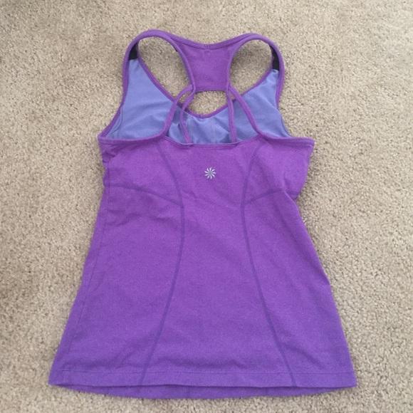 79 Off Athleta Tops Purple Athleta Workout Tank With