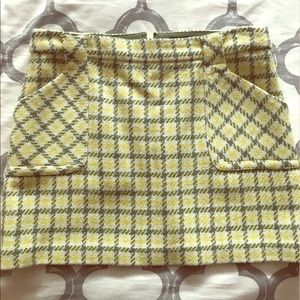 JCrew plaid wool mini A-line skirt