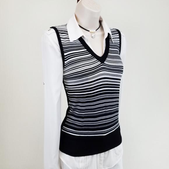 b0745b27f8 Dolce   Gabbana Sweaters - Dolce   Gabbana striped sweater vest  black