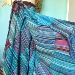 Dresses & Skirts - Patchwork Hippie Festival Maxi Vintage wrap skirt