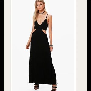 NWT Petite Black Maxi Dress