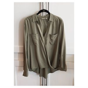 Anthropologie draped front blouse