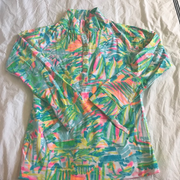 8 Off Lilly Pulitzer Tops Lilly Pulitzer Popover In Sea