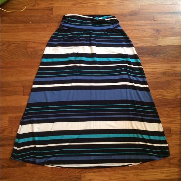 50 merona dresses skirts merona navy blue aqua