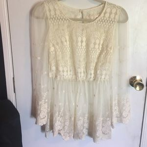 Women's Small Lace Top