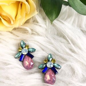 Jewelry - Colorful rhinestone statement stud earrings