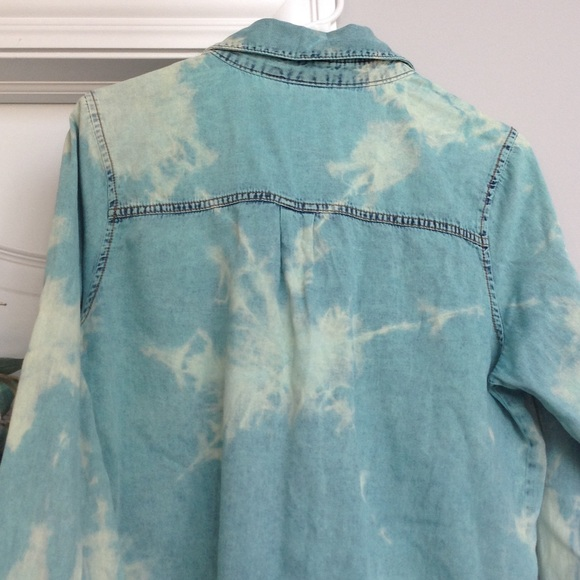 49 off mudd tops awesome tie dye button up jean shirt for Awesome button down shirts