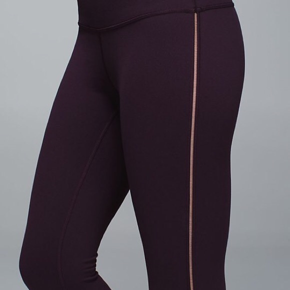 ddd7433985019 lululemon athletica Pants - Lululemon Black Cherry 7/8 High Times With Mesh