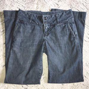 Lucky Brand Dark Rinse Wide Leg Denim Jeans