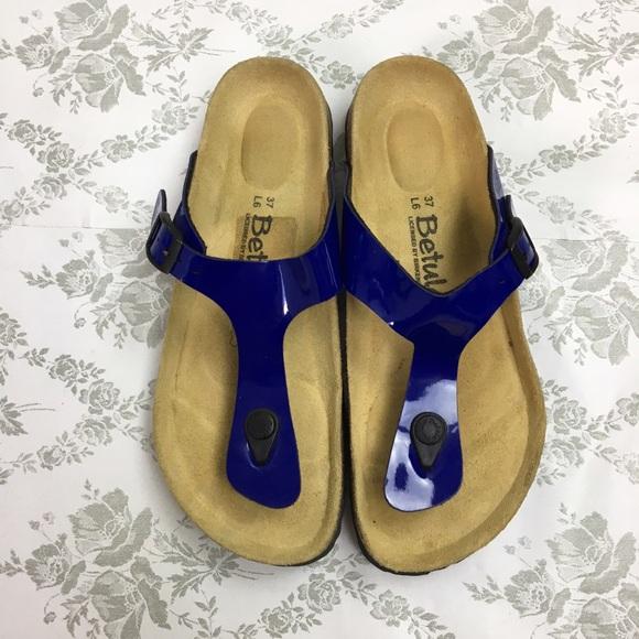 7bf4ff40dc8 Birkenstock Shoes - Betula by Birkenstock Gizeh patent blue sz 37
