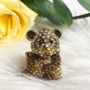 Jewelry - Cute panda bear statement ring stretches