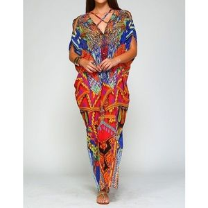 Dresses & Skirts - Multicolored Maxi Kaftan / Swimsuit Cover